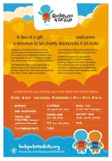 Get Involved Backpacks 4 Sa Kids